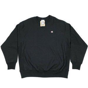 Champion Reverse Weave Black Crewneck Sweatshirt